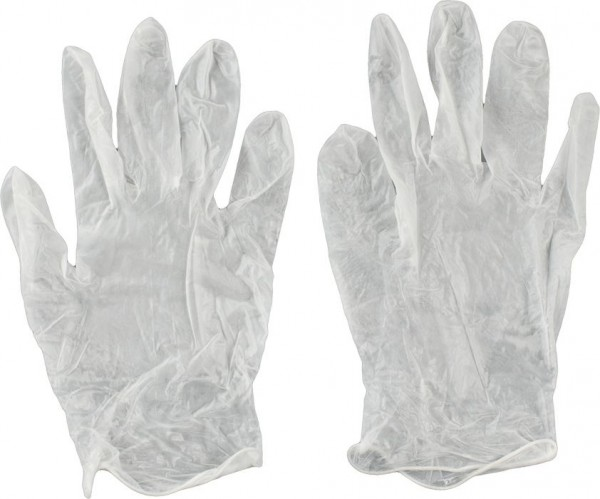 KWB Wegwerphandschoen, vinyl, naadloos, dubbelzijdig draagbaar, M/8 - 933821