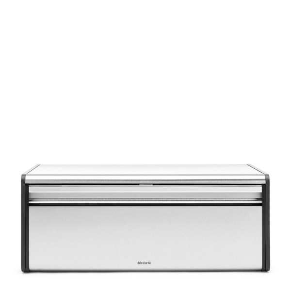 Brabantia Klappbrotkasten Seiten Matt Black Matt Steel Fingerprint Proof