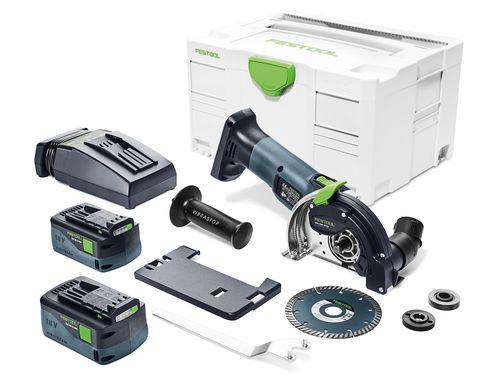 Festool Système de tronçonnage sans fil à main levée DSC-AGC 18-125 FH Li 5,2 EBI-Plus - 575346
