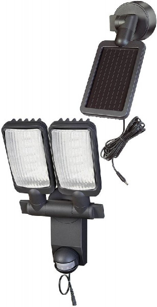 Brennenstuhl Solar LED-Leuchte Duo Premium SOL IP44 P1, Infrarot-Bewegungsmelder, 320lm, 4,75m, Anthrazit