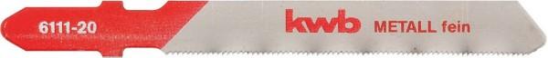 KWB Decoupeerzaagbladen, metaalbewerking, HSS, fijn - 611120