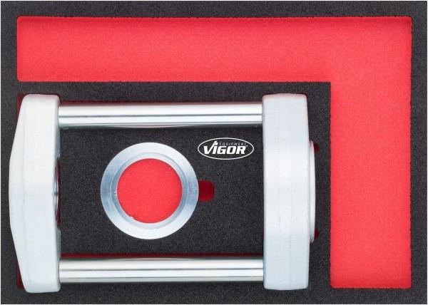 Vigor Drukstatief met open plaat, inclusief adapter om plaat te sluiten - V4910
