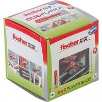 Fischer Cheville bi-matière DUOPOWER 8 x 40 S avec vis, boîte à fenêtre - 535460