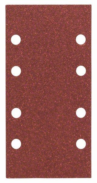 Bosch Feuille abrasive C430, pack de 10, 8 trous, 93 x 186 mm, 80 - 2608605304