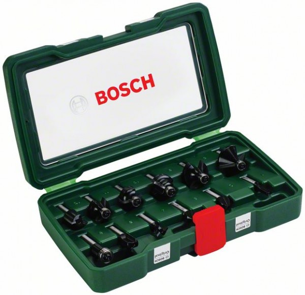 Bosch Cassette de 12 fraises au carbure (queue de Ø 8 mm)