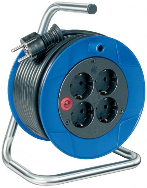 Brennenstuhl Enrouleur prolongateur compact, 4 prises, 15 m, H05VV-F 3G1,5