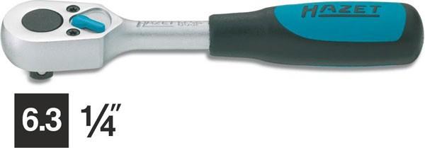 Hazet Umschaltknarre - Vierkant massiv 6,3 mm (1/4 Zoll) - Gesamtlänge: 115 mm - 863P
