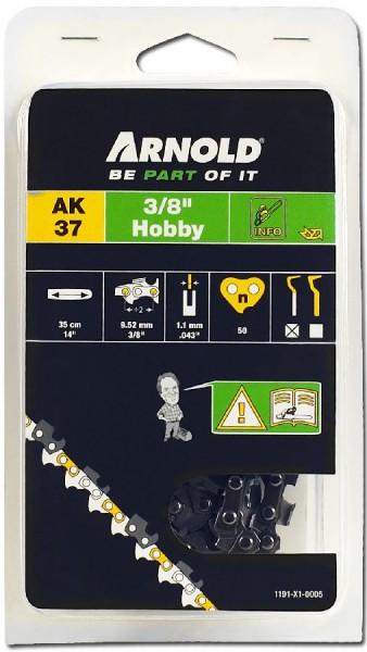 """Arnold Sägekette 3/8"""" LP, 1,1mm, 50TG, mit Sicherheitstreibglied, Halbmeißel"""