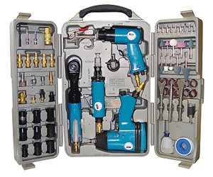 Güde Jeu d'outils pneumatiques 70 pcs