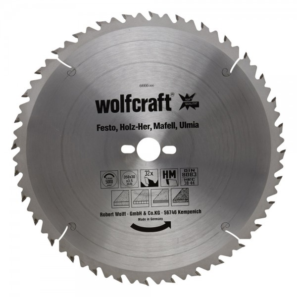 Wolfcraft lama per seghe circolare da banco HM, 32 denti