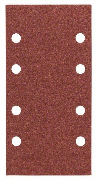 Bosch Feuille abrasive C430, pack de 10, 8 trous, 93 x 186 mm, 60, 120, 180 - 2608605310