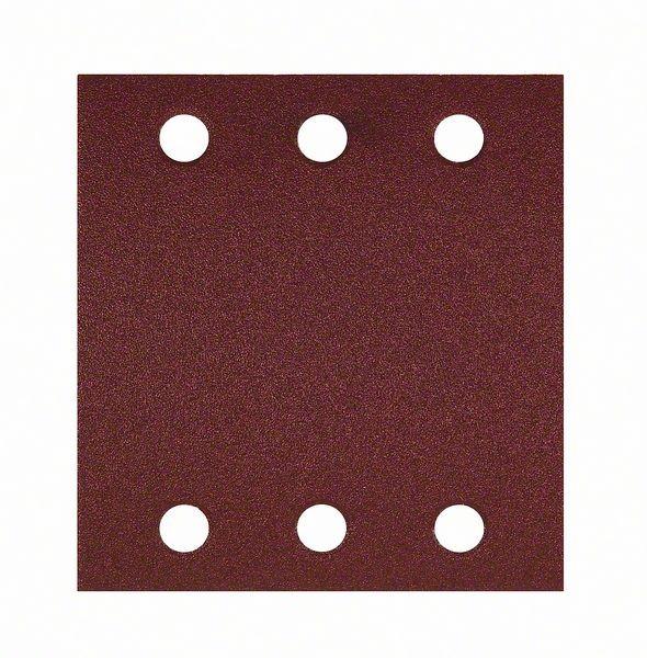 Bosch Schleifblatt-Set Best for Wood, 10-teilig, 6 Löcher, Klett, 115 x 107 mm, 240