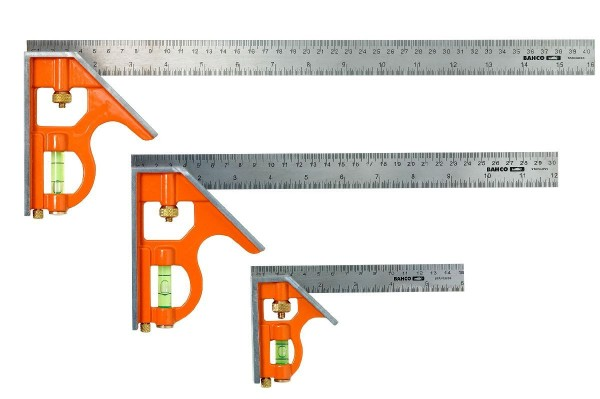 Bahco Kombinationswinkel 300mm Metrisch+zoll, Markiert 45° U. 90° - CS300