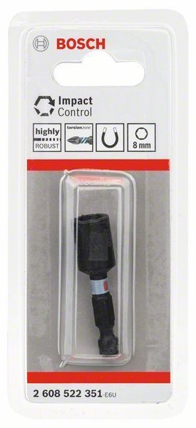"Bosch Douille Impact Control, 8 mm, 1/4"" - 2608522351"