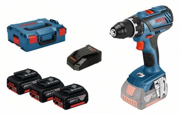 Bosch Perceuse-visseuse sans fil GSR 18V-28 Professional, avec 3 x 3,0 Ah Li-Ion batteries, L-BOXX - 06019H4103