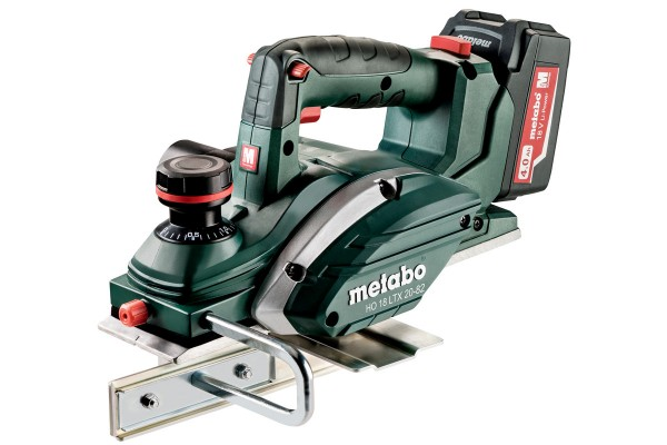Metabo HO 18 LTX 20-82 Akku-Hobel 2x Li-Power Akkupacks (18 V/4,0 Ah), ASC 30-36 V, Metaloc - 602082700