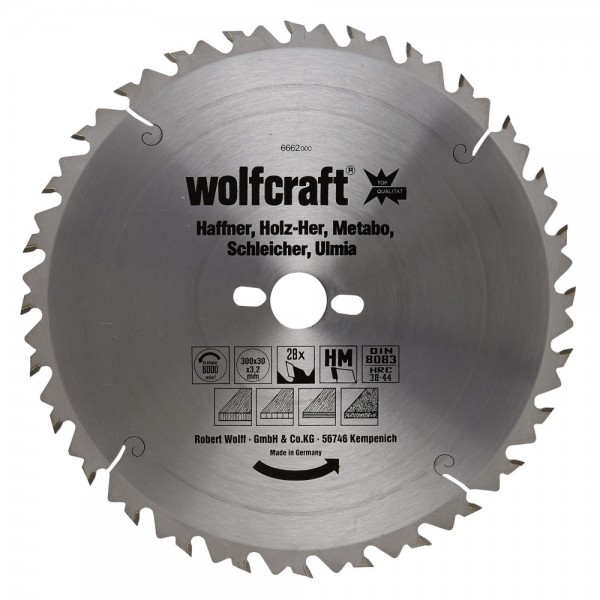 Wolfcraft Lame de scie circulaire CT, 28 dents
