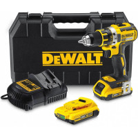 DeWALT Accu Schroef/boormachine 18V/2 Ah incl. 2 accu's, lader, koffer & accessoires - DCD790D2-QW
