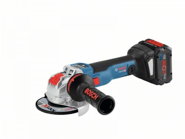 Bosch Smerigliatrice angolare a batteria GWX 18V-10 SC, 2 x batterie ProCORE18V 8.0Ah, L-BOXX - 06017B0401