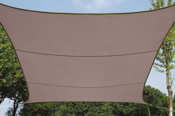 Perel ZONNEZEIL - VIERKANT - 3.6 x 3.6 m - KLEUR: TAUPE