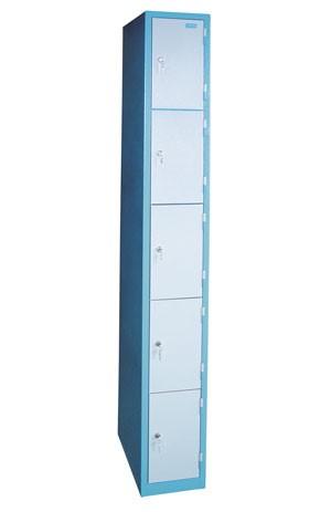 Güde Armadietti a colonna con 5 reparti - 260 x 500 x 1920 mm