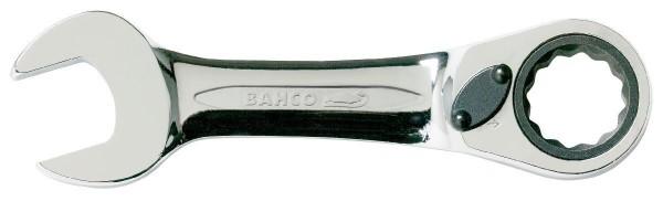 Bahco Clé mixte plate à cliquet, courte, 19mm - 10rm-19