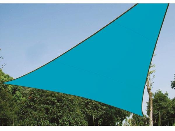 Perel ZONNEZEIL - DRIEHOEK - 3.6 x 3.6 x 3.6 m - KLEUR: HEMELSBLAUW