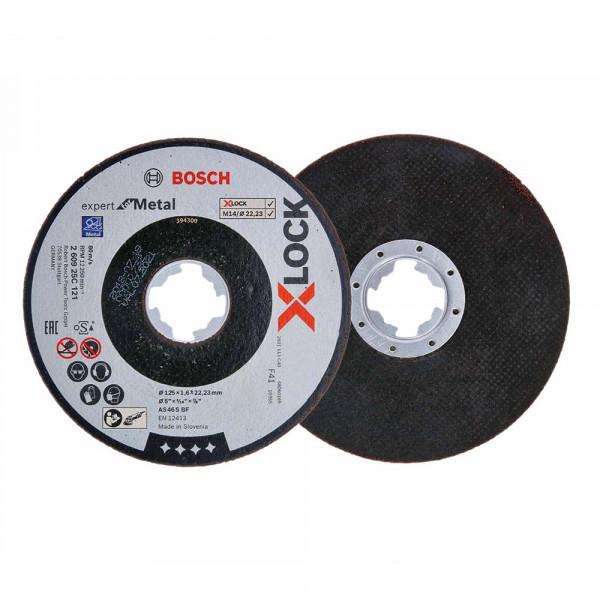 Bosch 5x Trennscheibe gerade X-LOCK Expert for Metal 125x1,6x22,23 - 260925C121