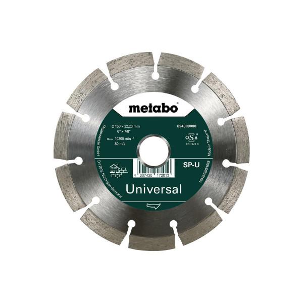 "Metabo Disco de cortar diamantado ""SP"" 150x22,23 mm, Universal, segmentado (624308000)"