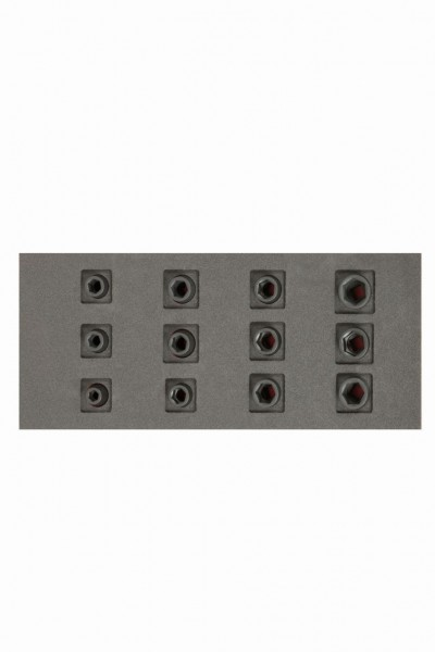 """Bahco Fit&Go 1/3 Assortimento bussole a macchina 1/2"""" in alloggiamento termoformato, 12 pezzi - FF1E2212"""