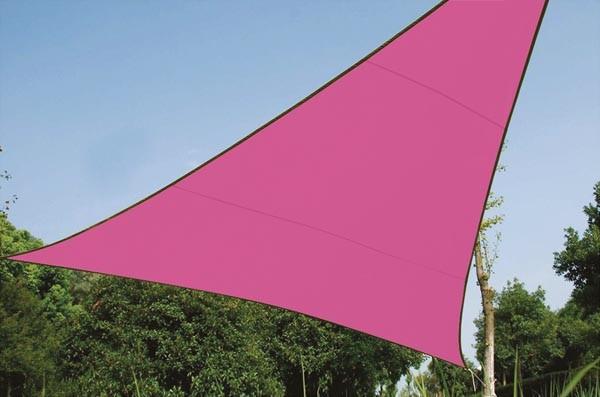 Perel ZONNEZEIL - DRIEHOEK - 5 x 5 x 5 m - KLEUR: FUCHSIA