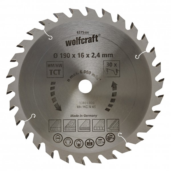 Wolfcraft Lame de scie circulaire CT, 30 dents