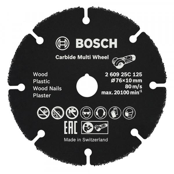 Bosch Disque à tronçonner Carbide Multi Wheel 76 mm - 260925C125