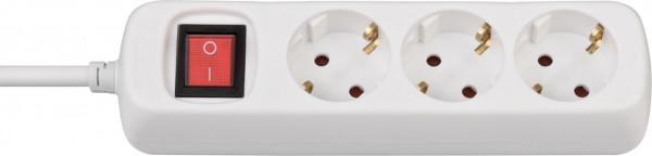 Brennenstuhl BAT 3-fach Steckdose mit Schalter (Steckdosenleiste mit erhöhtem Berührungsschutz, 1,4 m Kabel) weiß - 1550620413