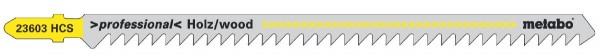 Metabo 5 Stichsägeblätter,Holz,profess. 150/ 4,0 mm