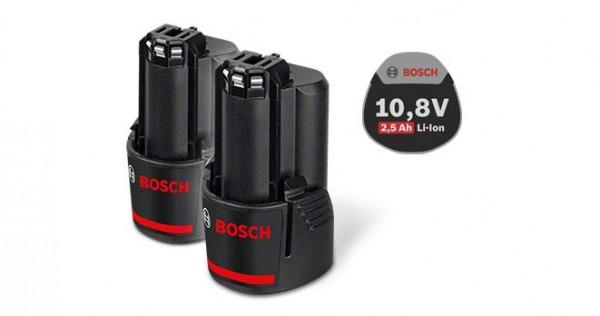 Bosch Professional Akkupack GBA 10,8 Volt / GBA 12 Volt, 2,5 Ah, Ersatz-Akkupack