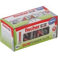 Fischer Cheville bi-matière DUOPOWER 5 x 25 sans vis, boîte à fenêtre - 535452