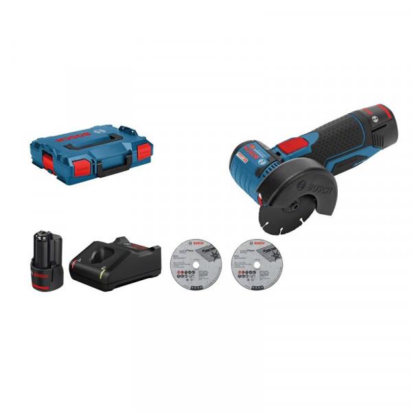Bosch Professional Meuleuse angulaire sans fil GWS 12V-76 Professional, avec 2 batteries 3,0 Ah, L-BOXX - 06019F200B