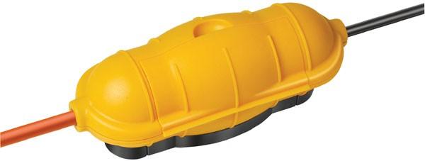 Brennenstuhl Kabelschutz Steckerschutz Safe Box (Gelb) BIG IP 44 für mehr Sicherheit bei Kabelsteckverbindungen