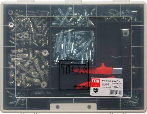 TOX Assortimento per intercapedini Monteur Gips Pro 195 pz - 3590111