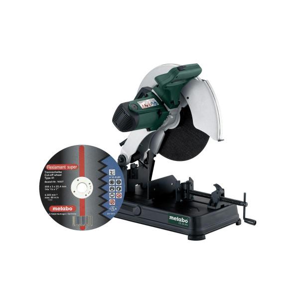 Metabo Metalltrennschleifer CS 23-355 Set, mit Trennscheibe Flexiamant Super, Karton - 602335850