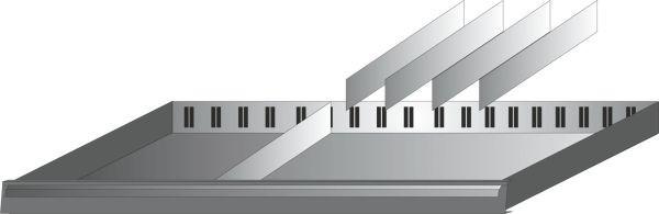 Hazet Schubladen-Unterteilung - Anzahl Werkzeuge: 5 - 173-31/5