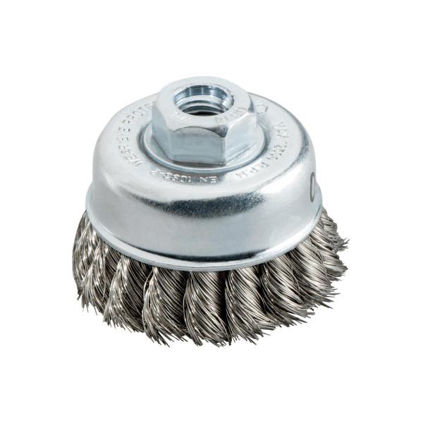 Metabo Cepillo hueco 65x0,35 mm/ M 14, acero, grosor de alambre trenzado 0,35 mm - 623796000