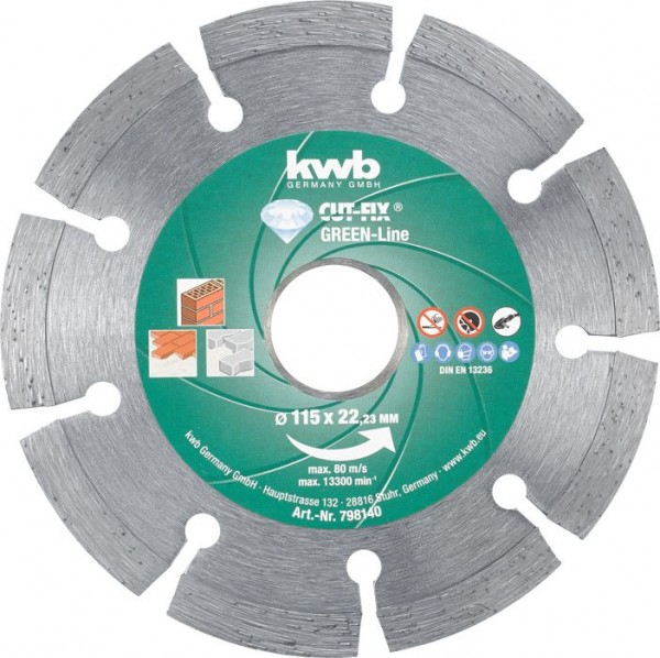 KWB CUT-FIX® Green-Line DIAMANT-doorslijpschijven, ø 115 mm - 798140
