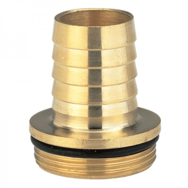 Gardena Messing slangkoppeling, 1-delig met band en O-ring, 47,9 mm (G 1 1/2)-schroefdraad - 07149-20