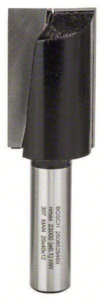 Bosch Nutfräser, 12 mm, D1 25 mm, L 40 mm, G 81 mm