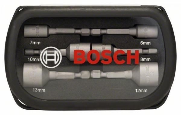 Bosch Douilles, set de 6 pièces 50 mm, 6, 7, 8, 10, 12, 13 mm
