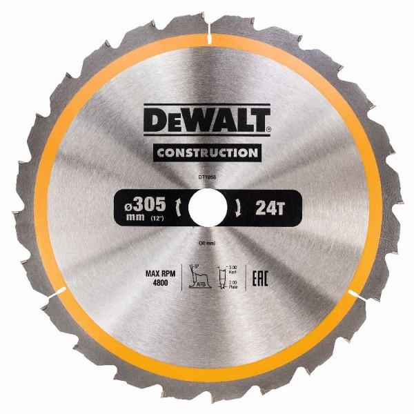 DeWALT Lama per sega circolare, 305/30 mm, 24 denti - DT1958-QZ