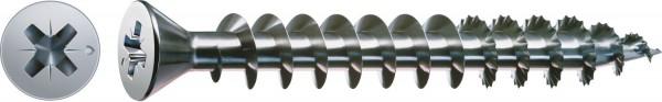 Spax Universalschraube, 3 x 10 mm, 1000 Stück, Vollgewinde, Senkkopf, Kreuzschlitz Z1, S-Spitze, WIROX - 0321010300105