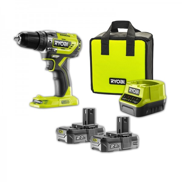 Ryobi Trapano Avvitatore a Percussione Brushless 18V, 2x2Ah Lithium+ - R18PD5-220S
